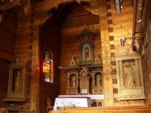 ołtarz drewniany w Jaszczurówce