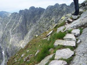 Orla Perć - widok na szlak