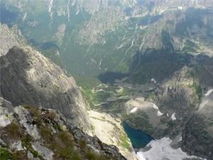 widok na Dolinę Ciężką