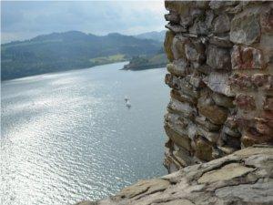 Widok z zamku czorsztyńskiego