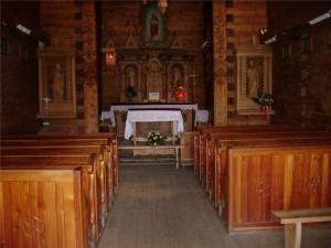 wnętrze kaplicy na Jaszczurówce