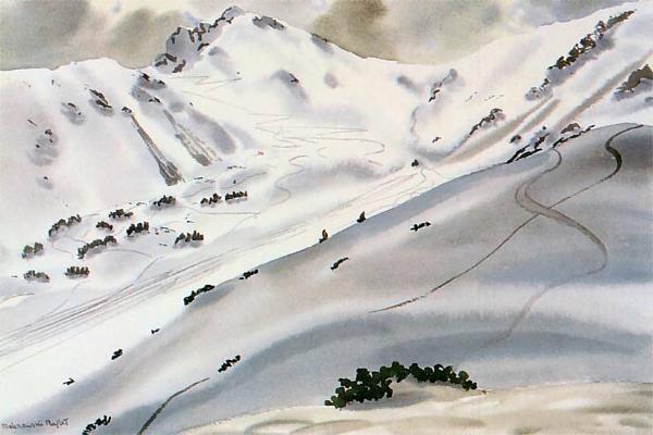 Zimowy pejzaż tatrzański - Rafał Malczewski (1933)
