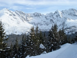 Zimowy widok na Orlą Perć